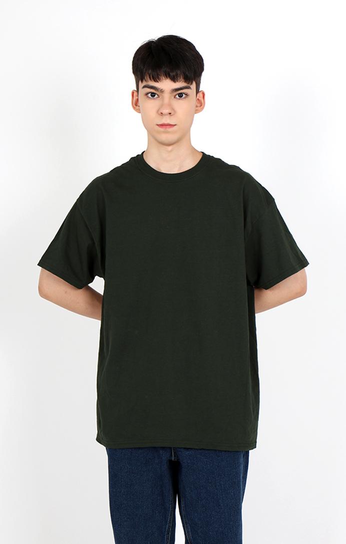 길단US핏 라운드 반팔 티셔츠 단체티