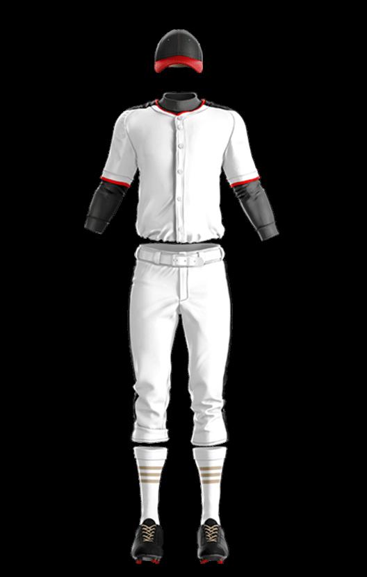 윌슨 상의 (백,적,곤) 야구복 단체티
