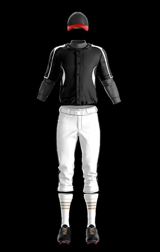 윌슨 상의 (검,백) 야구복 단체티
