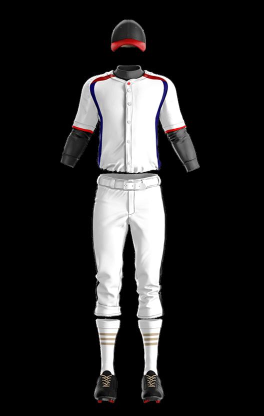 윌슨 상의 (백,적, 곤) 야구복 단체티
