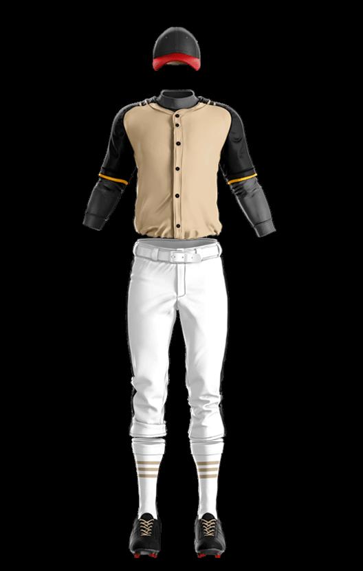 윌슨 상의 (골드,블랙) 야구복 단체티