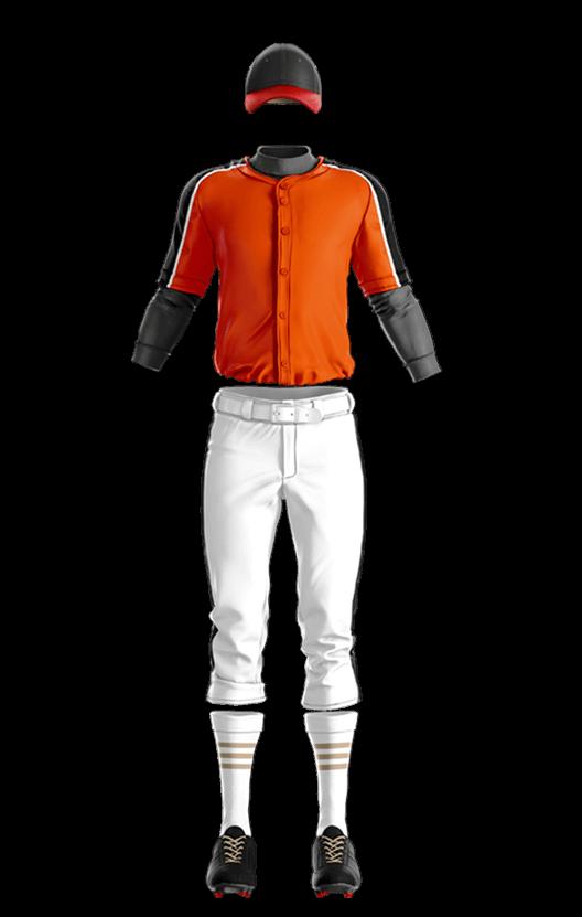 윌슨 상의 (오렌지,블랙 야구복 단체티