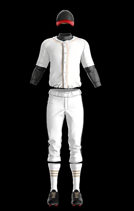 윌슨 상의 (백색,금색) 야구복 단체티