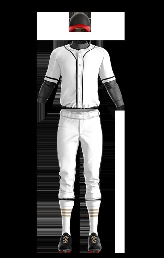 캡스록 오픈 솔리드 상의 (백색,흑색) 야구복 단체티