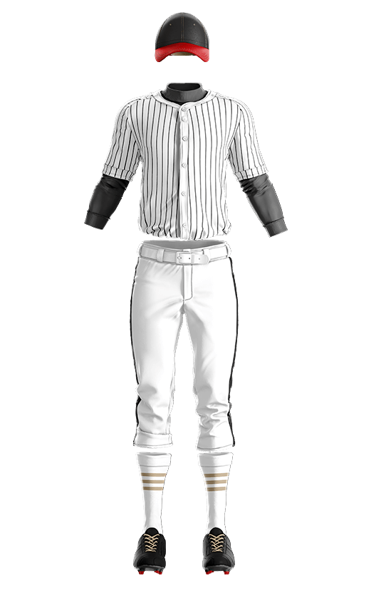 캡스록 스트라이프 상의(블랙) 야구복  단체티