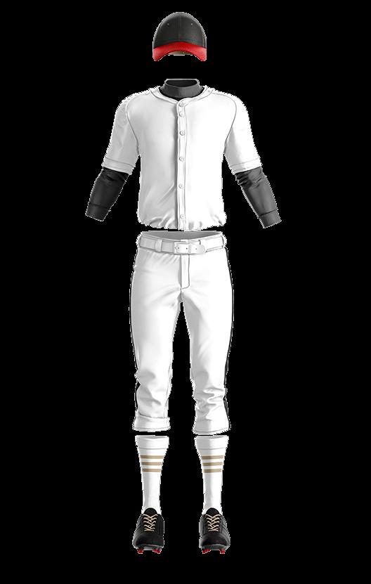 캡스록 오픈 솔리드 상의 야구복