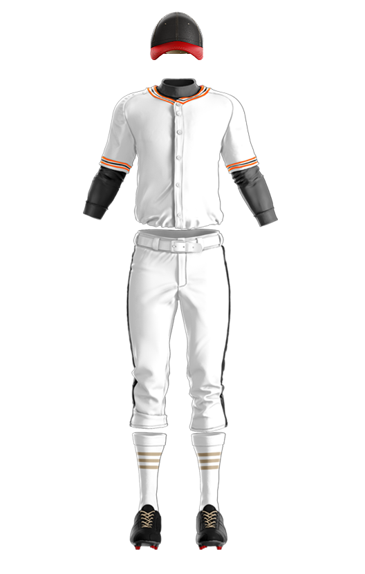 훼르자 오픈 솔리드 상의(주황) 야구복  단체티