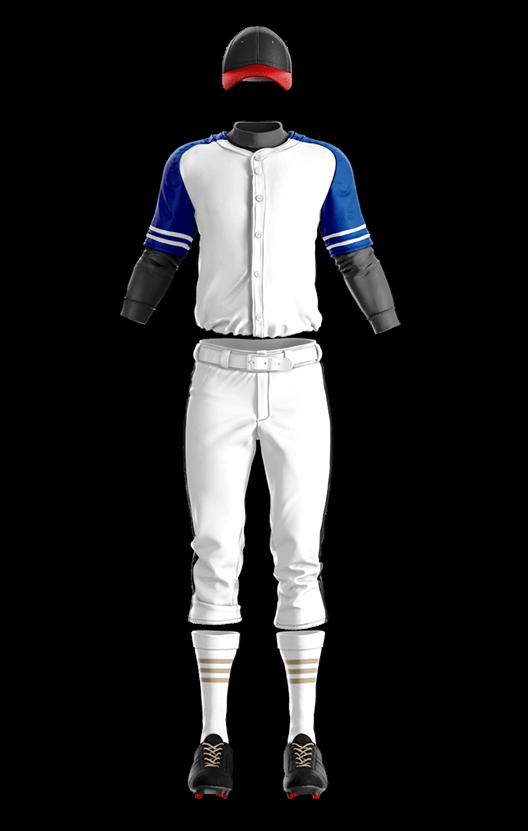 훼르자 오픈 솔리드 상의(블루) 야구복 단체티