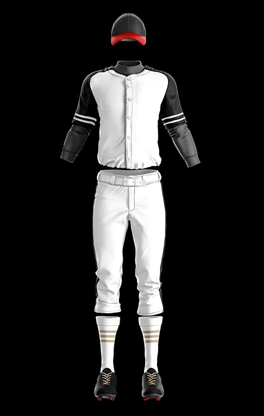 훼르자 오픈 솔리드 상의(블랙) 야구복 단체티