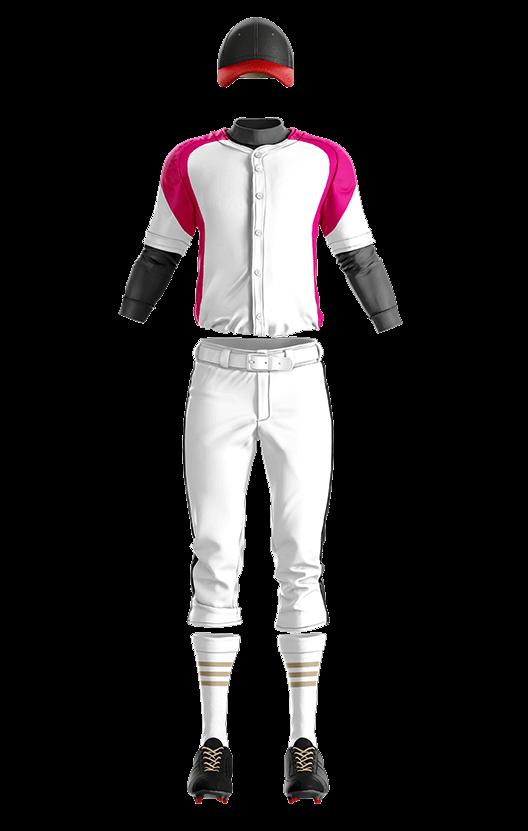 훼르자 오픈 솔리드 상의(핑크) 야구복  단체티