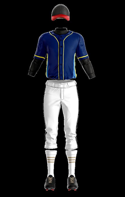 훼르자 오픈 솔리드 상의(곤색) 야구복  단체티