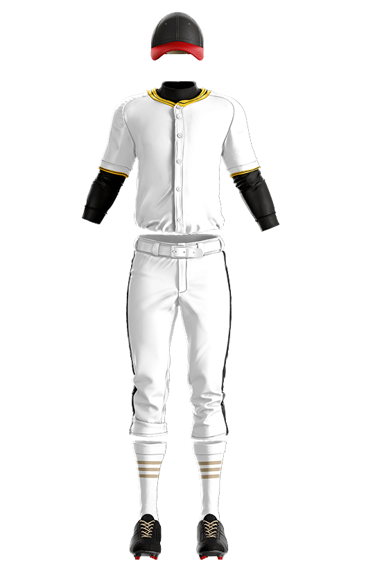 훼르자 오픈 솔리드 상의(노랑) 야구복  단체티