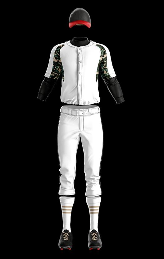 훼르자 오픈 솔리드 상의(밀리터리) 야구복 단체티
