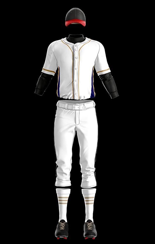 훼르자 오픈 솔리드 상의(흰색) 야구복 단체티