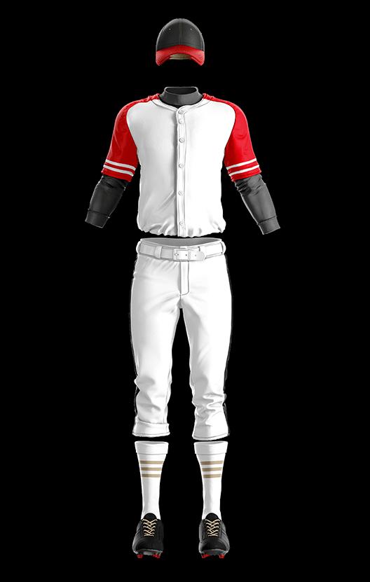 훼르자 오픈 솔리드 상의(레드) 야구복 단체티