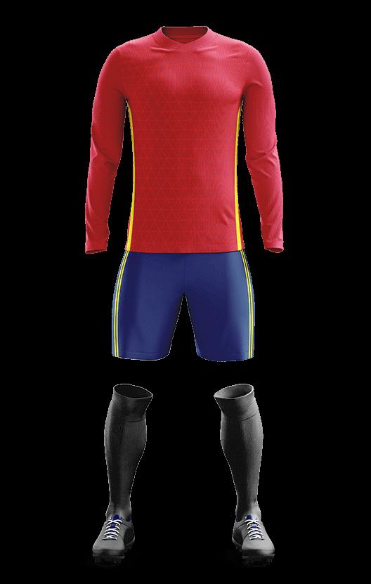 스페인 국가대표 홈 축구복 단체티