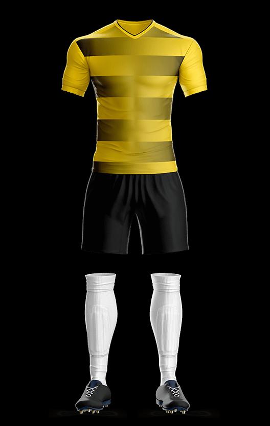 포스 도르트문트 홈 축구복 단체티
